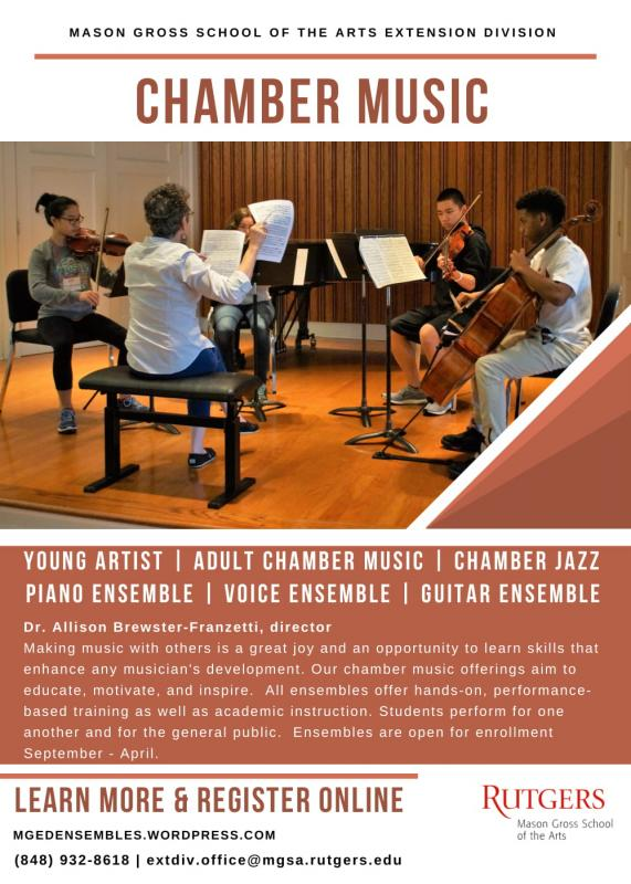 Auditions for Chamber Music at Extension Division, Mason